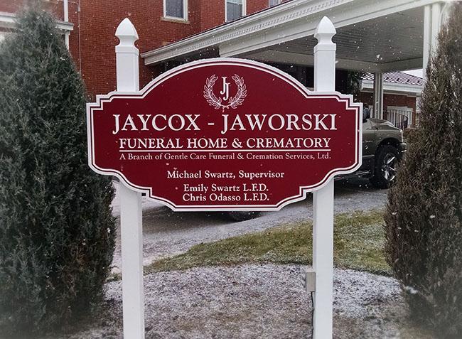 Jaycox-Jaworski - Carved Sign