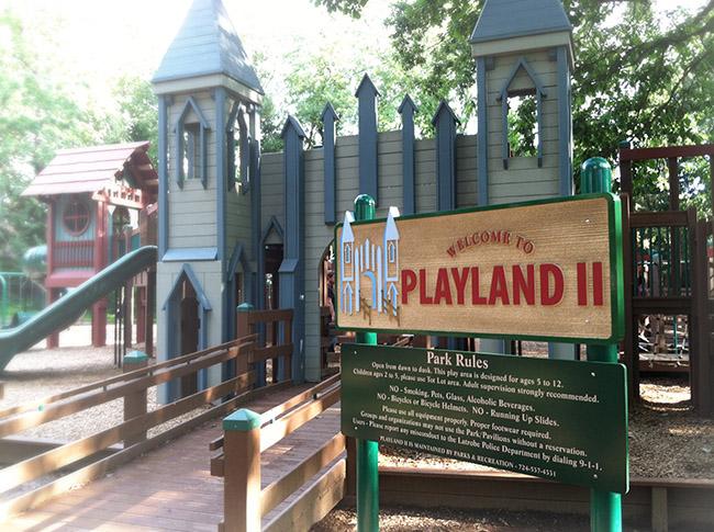 Playland - Carved Sign