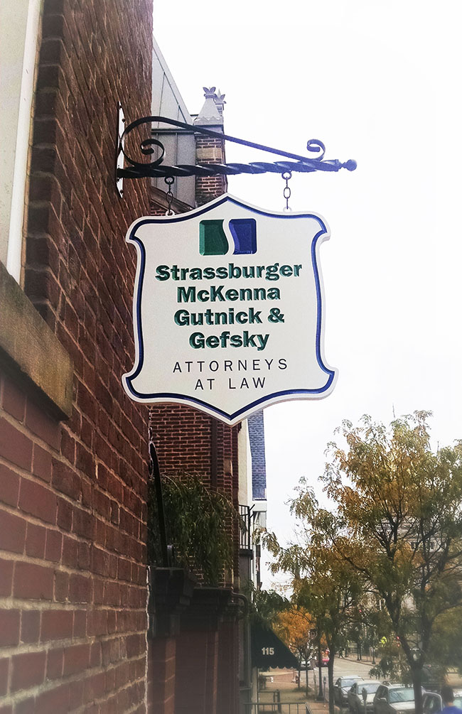 Strassburger - Carved Sign