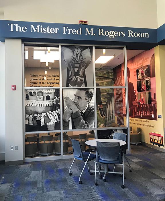 Thiel College Mr Rogers Room Install