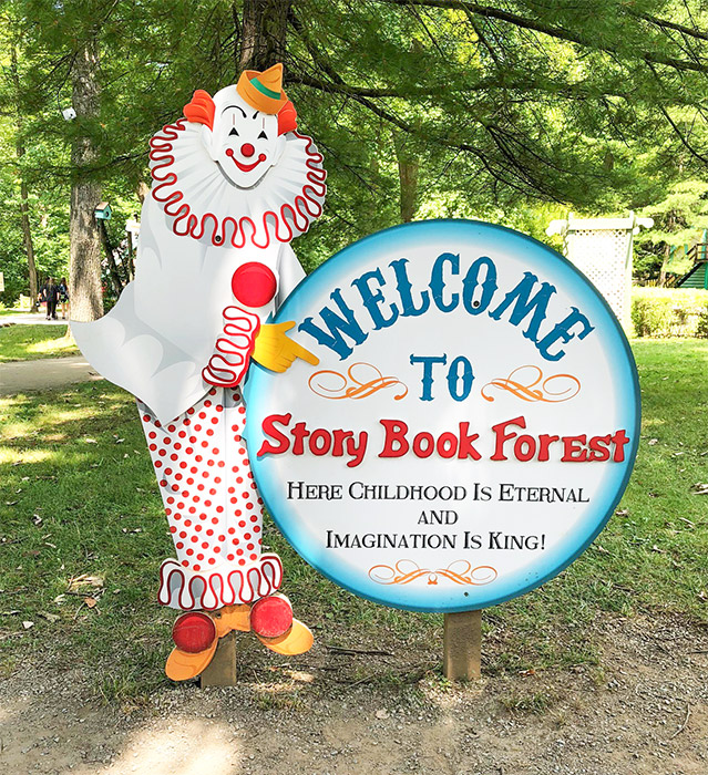 Idlewild Storybook Forest Clown Sign