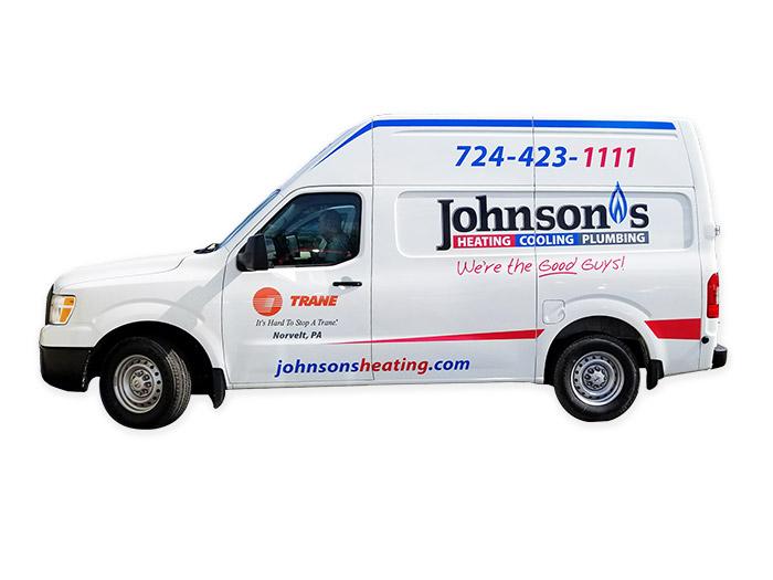 Johnson's Heating & Plumbing Van