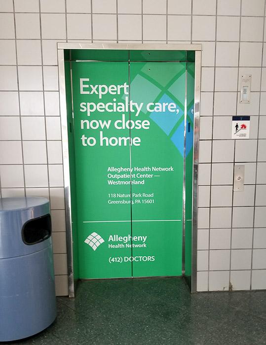 AHN Mall Elevator Wrap