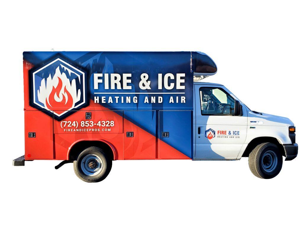 Fire & Ice Full Truck Wrap